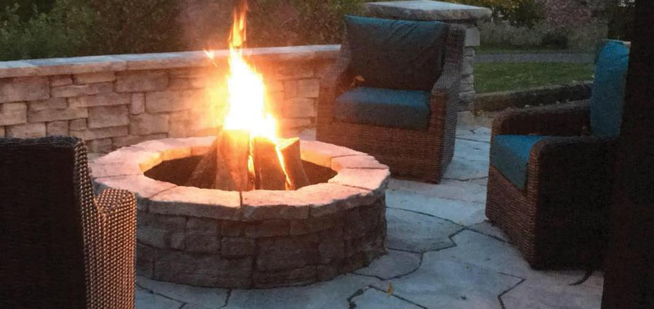 This customer had requested that we build a patio and fire pit combination for their home in McMurray.